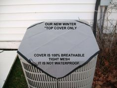 Air Conditioner Cover Winter - Top - 34x34........ GRAY.....The only cover that breathes 100% tight mesh 1mm, and does not trap moisture/like vinyl or plastic. ...Full 5 year manufacturer's warranty by Premieraccovers. $24.95. Our Winter Covers extend the life of your a/c unit against the harsh elements of winter's damaging storms, rain, hale, ice and snow. ........ It is highly resistant to sunlight, mold, mildew, moisture and temperature ex...