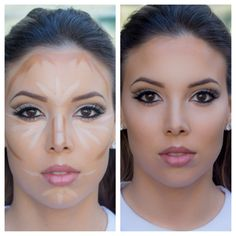 Make-up made easy - Muselig - . - Make-up made easy💋 – Muselig – up - Contour Makeup, Skin Makeup, Highlighter Makeup, Beauty Make-up, Beauty Hacks, Make Up Tricks, Make Up Tutorials, Makeup Techniques, How To Apply Makeup