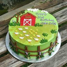 #barnyardcake #buttercreamcake
