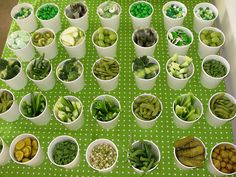 A green food bar is shown, but pick a color and provide tastes and samples of every food you can find in a particular color!!  Could get interesting!!  A Food Palette!