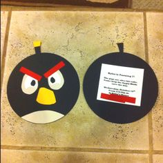 Angry Birds Birthday Invites!  Created By: Dan