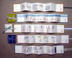 Celia Lister - Calligraphy and Lettering Artist 5 ideeën voor harmonicaboek