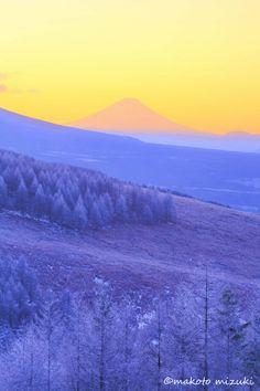 Fuji from Kirigamine plateau, Japan