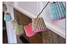 Scrapbook paper light covers