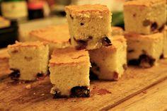 kitchencat-weiße Schoki und Heidelbeeren