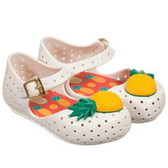 Mini Melissa Pineapple Shoes in White