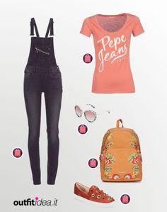 Comodo e pratico ma sempre di tendenza Pepe Jeans, Jumpsuit, Silhouette, Denim, Outfit, Polyvore, Shopping, Fashion, Overalls