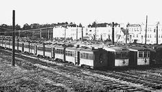 """The """"bone yard"""" near Golden Gate Park--where the City's old street cars once went to die."""