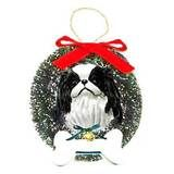 Japanese Chin Dog Breed Information Dog Ornaments, Christmas Ornaments, Scammer Pictures, Akc Breeds, Japanese Chin, Dog Names, Dog Lovers, Wreaths, Dogs