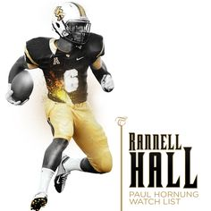"Rannell ""Speedy"" Hall is on the watch list for the most versatile player in the country. Ucf Football, Ucf Knights, Watch, Country, Poster, Black, Design, Clock, Rural Area"