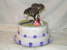Great Mulan Cake. I wonder if the tree is like real or something