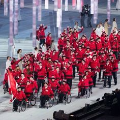 The Opening Ceremonies today at the Paralympic Games. We are so proud to be the Official Outfitter