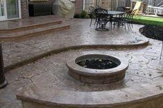 Concrete Patios With Fire Pits: Building A Fire Pit On Concrete Patio