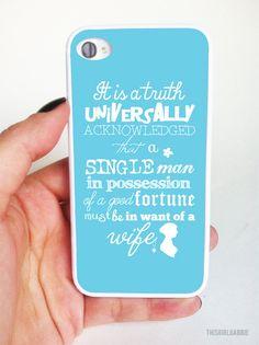 Plastic iphone case - pride and prejudice quote - pink - jane austen - iphone - iphone Iphone Wallet Case, Iphone 4s, Pride And Prejudice Quotes, Iphone Cases Quotes, Classic Quotes, Jane Austen, Words, Plastic, Holiday Quote