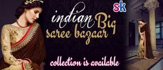 indian saree BIG BAZAAR collection is available now@ shopking24.com