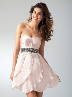 2012 Style A-line Sweetheart  Rhinestone Sleeveless Short / Mini  Chiffon Cocktail Dresses/ Homecoming Dresses
