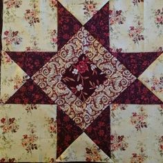 Blok nr 8 naar Barbara Brackmans mystery quiltproject Austen Family Album.