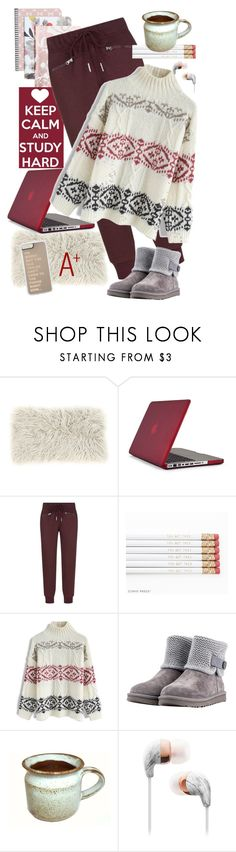 """""""Comfy Cozy Studying"""" by sojazzed ❤ liked on Polyvore featuring Speck, STELLA McCARTNEY, Chicwish, UGG, StellaMcCartney, uggs, chicwish, ugg and finals"""