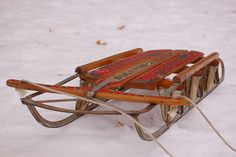 vintage sled I had one of these and can remember so many fun times with my brothers.