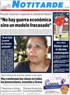 #Portadas #PrimeraPagina #Titulares #Noticias #DesayunoInformativo @webnotitarde