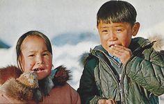 Vintage Postcard The Eskimo Children From Ukivok, King Island Bering Sea, Alaska