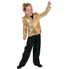Disco Jacket Gold Boys Halloween Costume