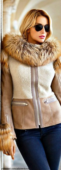 Winter style faux fur