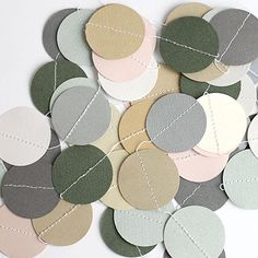 Paper garland - lovely pallette