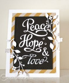Marybeth's time for paper: You Are Going To Love The New Dies - Serendipity Stamps Peace/Hope Die Set