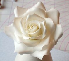 Flowers - Practicing my gum paste flower making skills. Petals 8 or 9 for the center before I started opening it up.