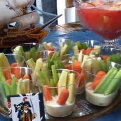 Healthy individual snacks for kids party