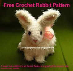 Free crochet bunny rabbit pattern that's super cute and fast to make.