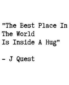 Hug feels.