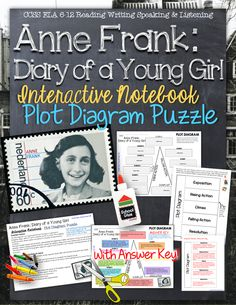 Anne Frank: Diary of a Young Girl - Interactive Notebook Plot Diagram Puzzle ($)