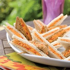 New South Jalapeño Pimiento Cheese - I like the idea of mixing white and brown bread for sandwiches