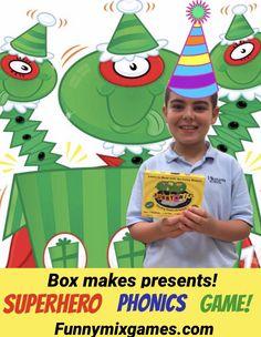 #1 SUPERHERO PHONICS GAME!  Meet 14 FUNNY MIX SUPERHEROES TODAY!  Funnymixgames.com  #funny #fun #phonics #superheroes #kindergarten #1stgrade #dyslexia #homeschool #gifts #preschool #cardgames #summerfun #literacymatters #ortongillingham #og Kindergarten Phonics, Phonics Games, Teaching Phonics, Teaching Kids, Kids Learning, Literacy, Superhero Names, Pre K Pages, Nonsense Words