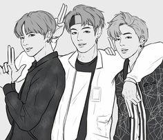 BTS | Maknae-line | Park JiMin | Kim TaeHyung | Jeon JungKook | MyTaePics | FanArt