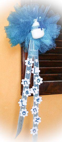 Fiocco nascita bimbo., by Carry's Shop, 25,00 € su misshobby.com