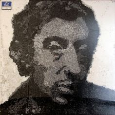 OMGGGGG a Serge Gainsbourg portrait made from 23000 cigarette filters! How appropriate! Man, I love Serge.