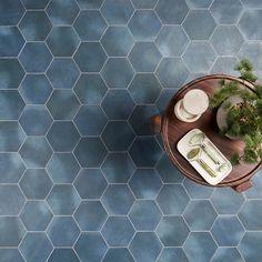 "Sasha Hex Chiazza Marino 6"" Matte Porcelain Hexagon Tile Hexagon Tiles, Cleaning Tile Floors, Sanded Grout, Garage Renovation, Grout Cleaner, Commercial Flooring, Wood Panel Walls, Shower Floor"