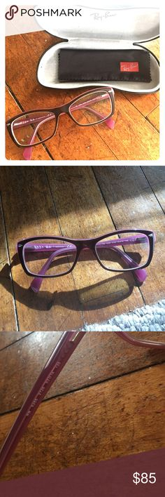 3c2ebfe0790 Ray-Ban eyeglasses Brown and pink plastic eyeglass frames. Surprisingly go  with many outfits