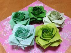 達人折りのバラの折り紙 10 Only one origami rose 10 Origami Flower Bouquet, Origami Rose, Origami Stars, Origami And Kirigami, Origami Paper Art, Origami Folding, Oragami, Origami Tooth, Origami Ball