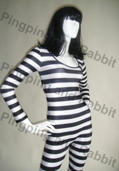 Black and White Catsuit