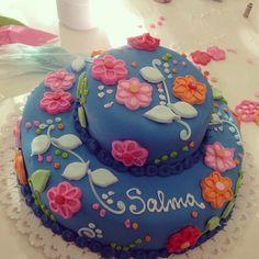 Casi terminada ya nos robó el corazón #cake #azul #farinetas #blue