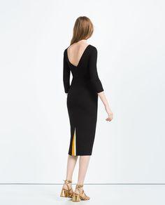 DRESS WITH BACK VENT-Midi-DRESSES-WOMAN | ZARA United States