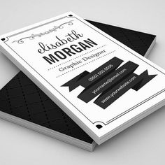Freebie release 10 business card templates psd pinterest retro black and white simple personal contact business card cheaphphosting Gallery