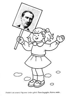 29 Ekim Cumhuriyet Bayramı Çocuk Kalıbı