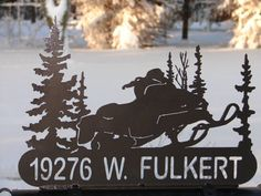 Up for purchase is a Hand crafted SNOWMOBILE MAILBOX TOPPER for your Home or Business. CNC Plasma cut from 1/8 steel not flimsy tin. This one measures