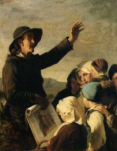 Merchant of Images (c.1862). Alexandre Antigna (French, 1817-1878). Oil on canvas. Bordeaux, Museum of Fine Arts.
