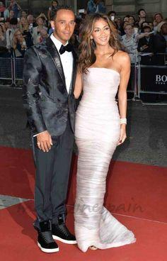Lewis Hamilton y Nicole Scherzy